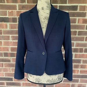 Talbots navy blue blazer career jacket
